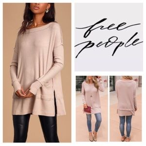 Free People North Shore Thermal Tunic Top.  NWT.